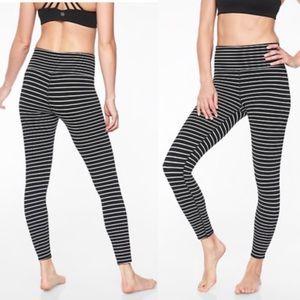 ATHLETA Elation Virasana Stripe 7/8 Leggings M
